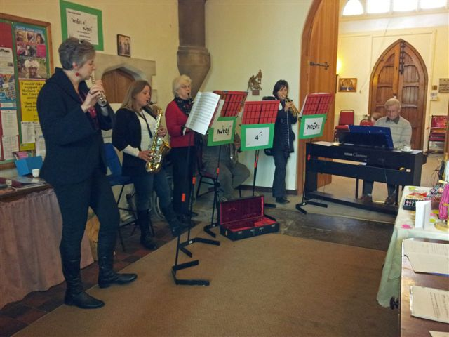 Some of our instrumentalists playing at the Christmas Fayre